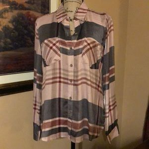 Lucky Brand plaid top, size medium